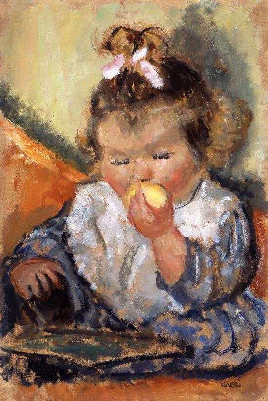 Irena Weiss, Aneri, Hanusia z jabłkiem, dzieci w sztuce, sztuka polska, kobiety w sztuce, Niezła Sztuka