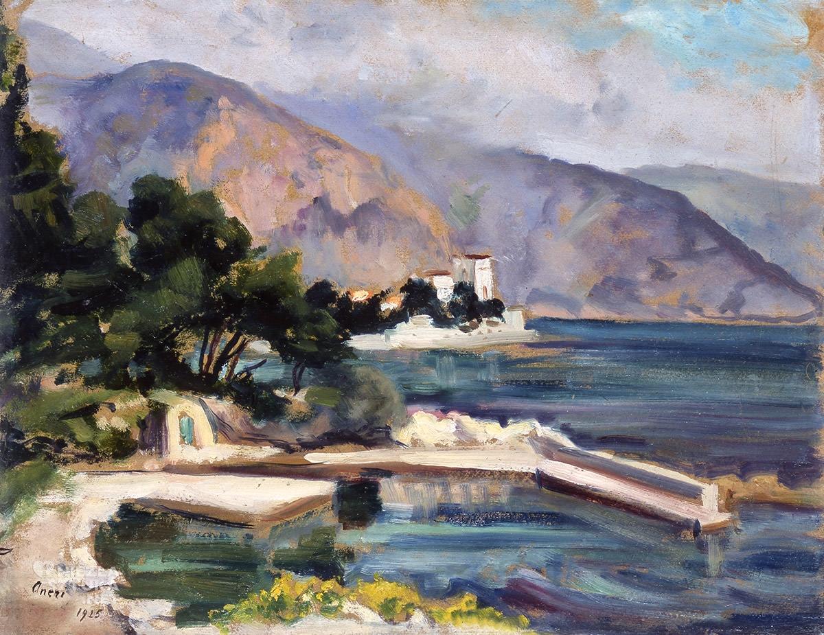 Irena Weiss, Aneri, Cap Ferrat, Francja, krajobraz, pejzaż, sztuka polska, Niezła Sztuka