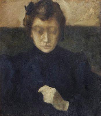 Irena Weiss, Aneri, Studia portretowe (na tekturze), sztuka polska, malarstwo polskie, kobiety w sztuce, Niezła Sztuka