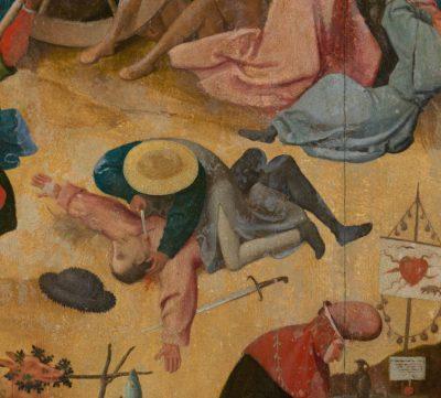 Hieronim Bosch, Wóz z sianem, malarstwo niderlandzkie, sztuka holenderska, detal, Niezła Sztuka