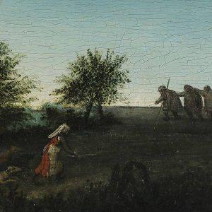 Pieter Bruegel, Przysłowia, detal, Ślepcy, malarstwo niderlandzkie, sztuka niderlandzka, Niezła Sztuka