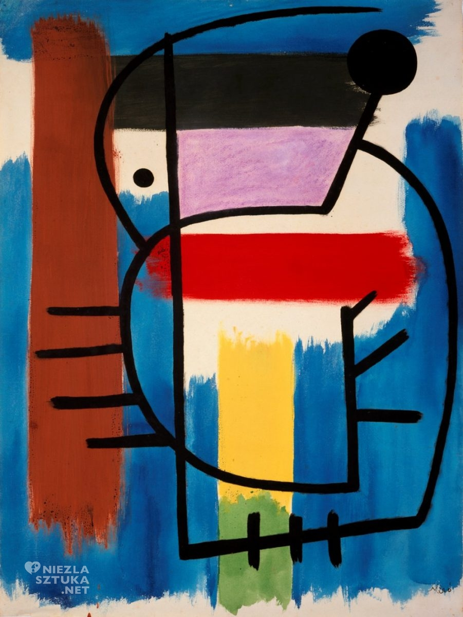 Joan Miró, Siedząca kobieta, Femme assise, sztuka współczesna, sztuka hiszpańska, sztuka katalońska, Barcelona, Niezła Sztuka