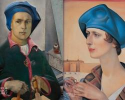Ludomir Sleńdziński, Portret żony z obrączką, Rzym, niezła sztuka