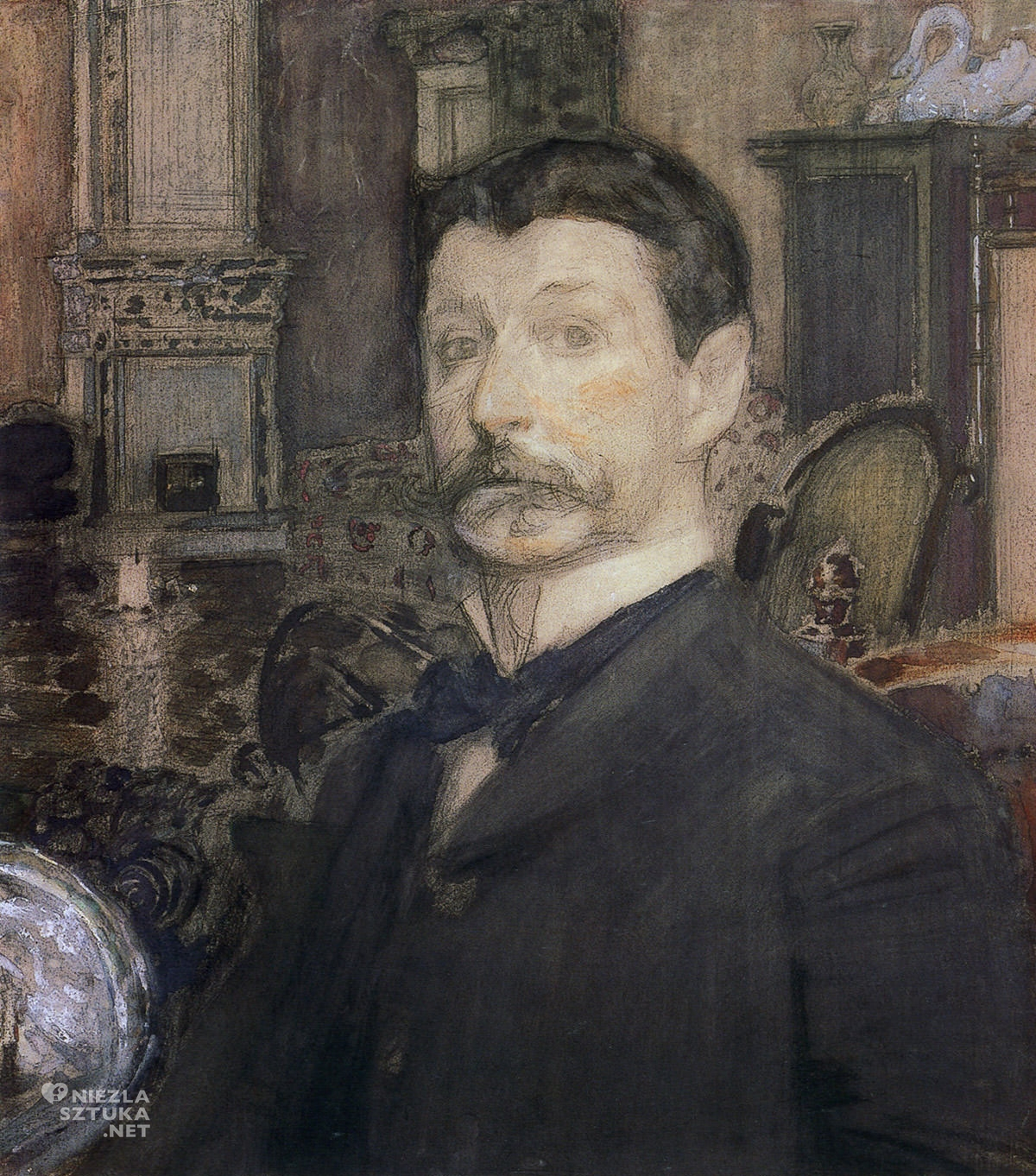 Michaił Wrubel autoportret, sztuka rosyjska, Niezła Sztuka