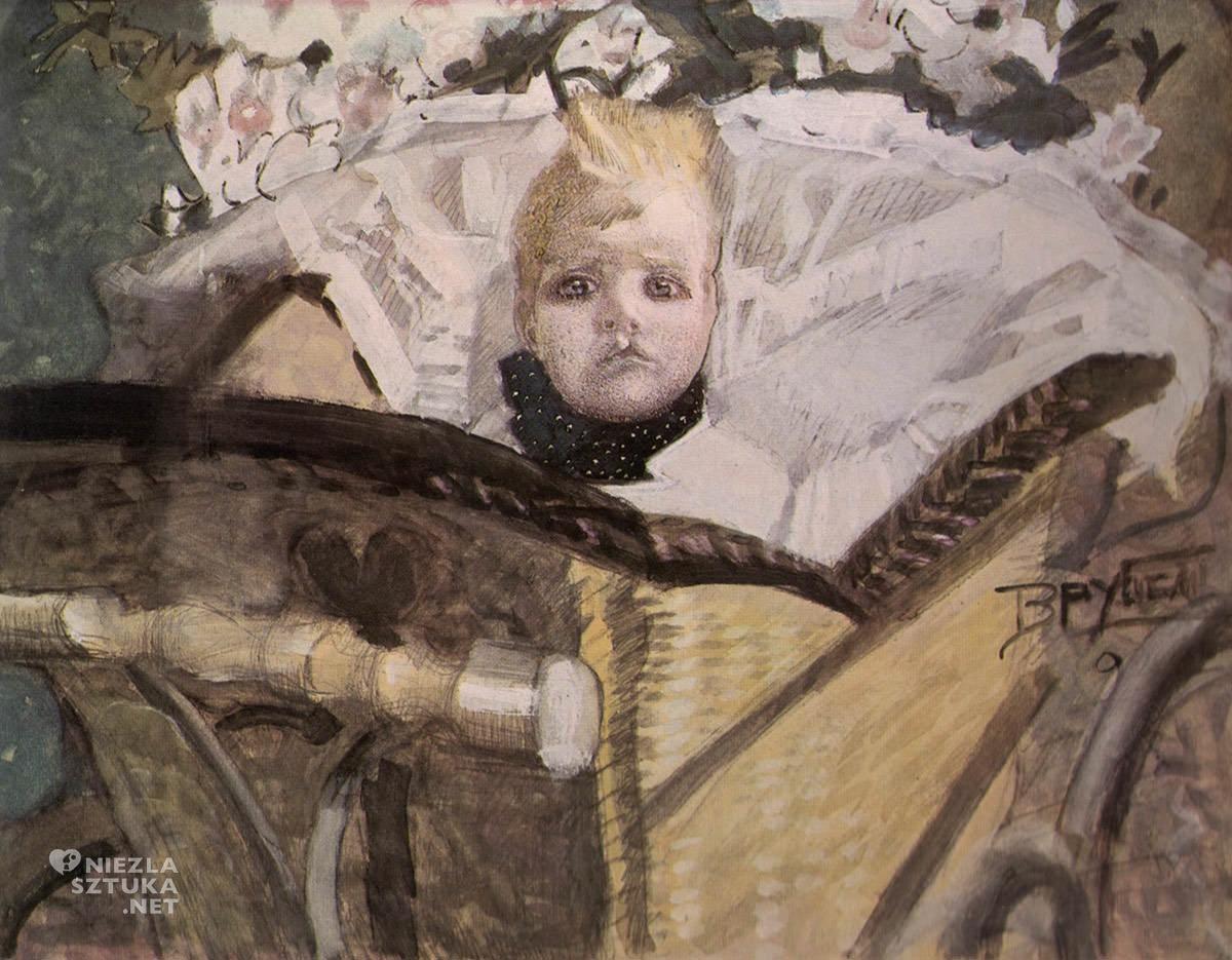 Michaił Wrubel, portret syna, sztuka rosyjska, Niezła Sztuka