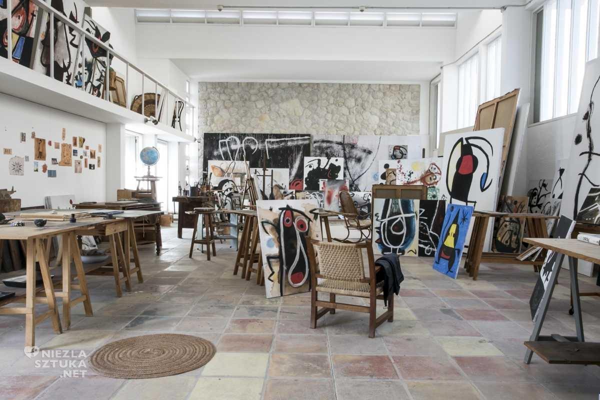 Juan Miró, studio, atelier, Majorka, Palma, Niezła Sztuka