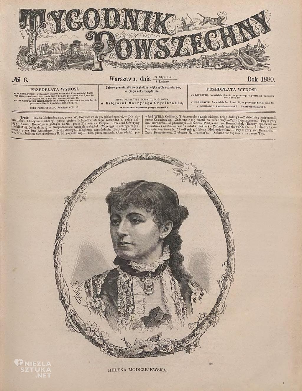 Helena Modrzejewska, Tygodnik Powszechny, niezła sztuka