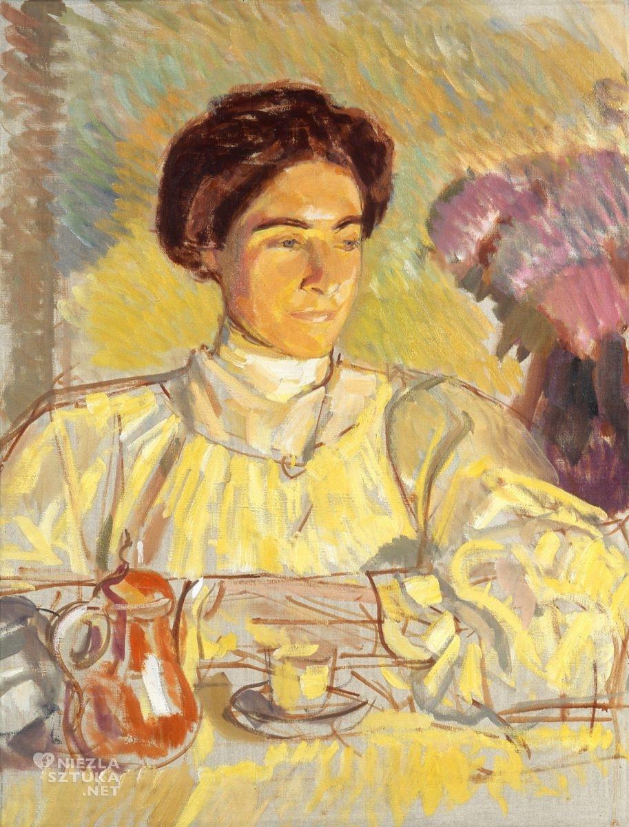 Wojciech Weiss, Renia przy stole, Irena Weiss, sztuka polska, kobiety w sztuce, Niezła Sztuka