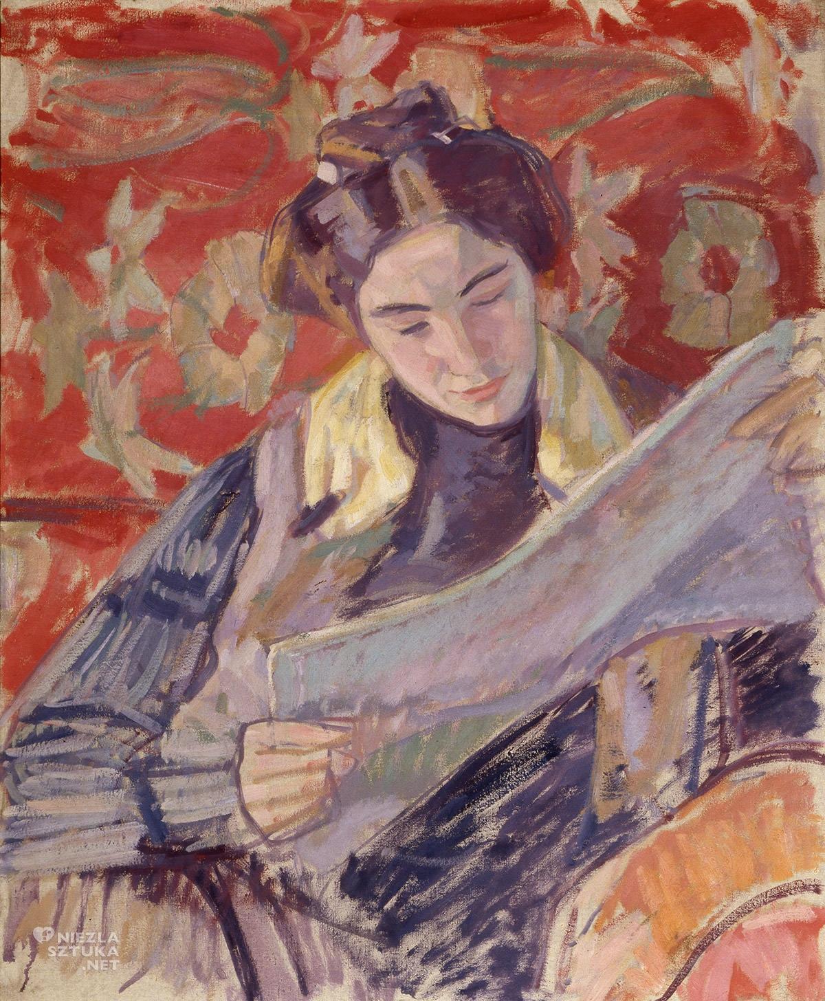 Wojciech Weiss, Renia czytająca I, Irena Weiss, kobiety w sztuce, sztuka polska, Niezła Sztuka