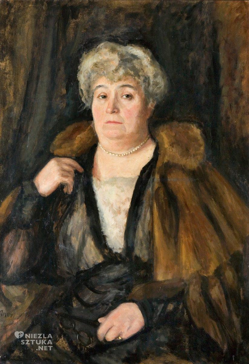 Irena Weiss (Aneri), portret matki, Wojciech Weiss, niezła sztuka