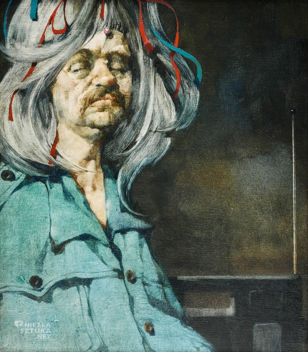 Jerzy Duda-Gracz, Autoportret w peruce Incognito ergo sum, sztuka współczesna, sztuka polska, Niezła Sztuka
