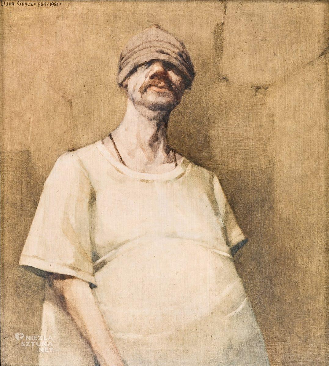 Jerzy Duda-Gracz, Autoportret-Czapa, sztuka współczesna, sztuka polska, Niezła Sztuka