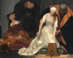 Paul Delaroche, Ścięcie Lady Jane Grey, egzekucja Lady Jane Grey, sztuka francuska, Niezła Sztuka