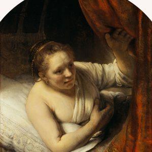 Rembrandt, Rembrandt van Rijn, Kobieta w łóżku, sztuka niderlandzka, malarstwo niderlandzkie, Niezła Sztuka