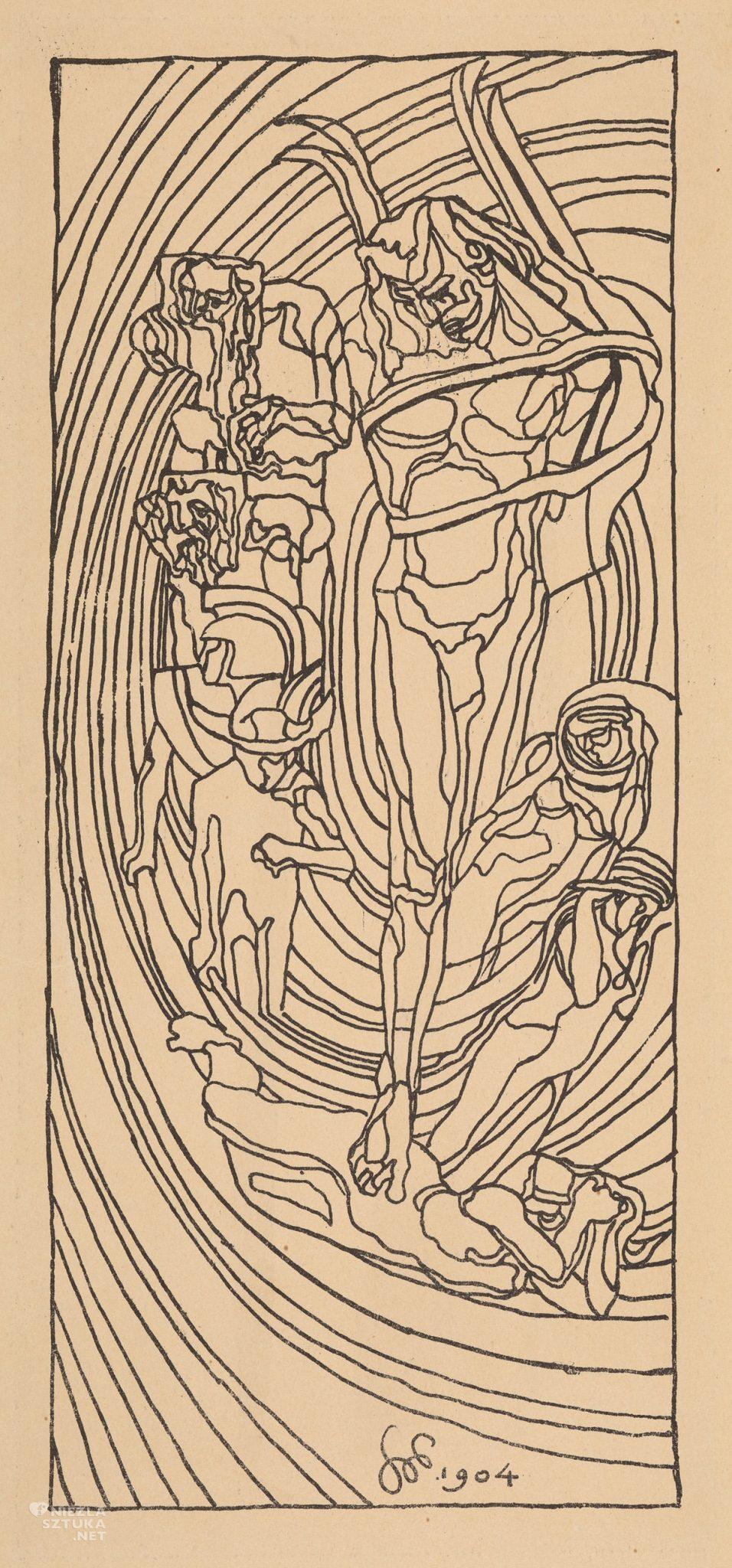 Stanisław Wyspiański, Apollo, litografia, sztuka polska, grafika polska XX/XXI w., malarstwo polskie, niezła sztuka