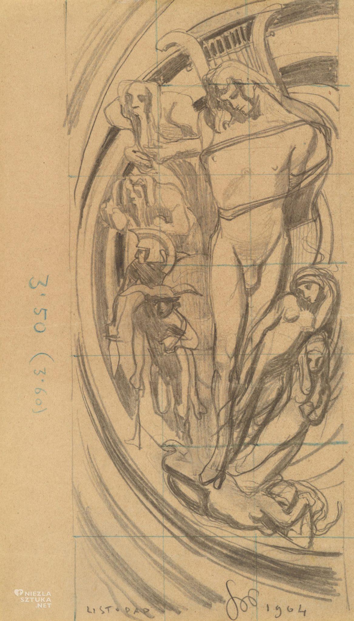 Stanisław Wyspiański, Apollo - System słoneczny Kopernika, szkic, sztuka polska, malarstwo polskie, witraż, niezła sztuka