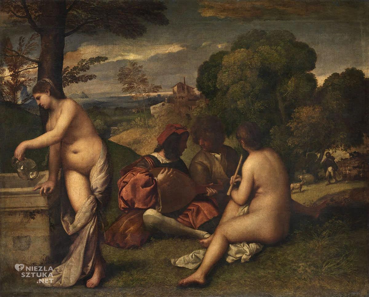 Tycjan, Koncert wiejski, sztuka renesansowa, Giorgione, Niezła Sztuka