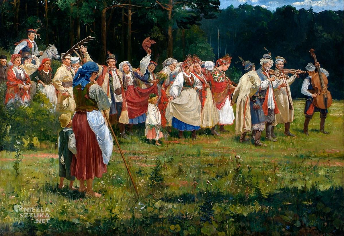 Wincenty Wodzinowski, Wesele krakowskie, malarstwo polskie, malarstwo XX w., Niezła Sztuka