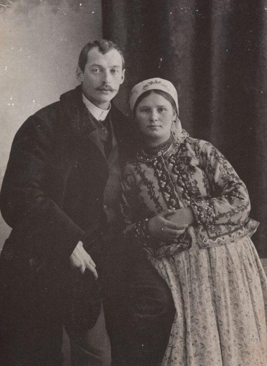 Włodzimierz Tetmajer z żoną, Portret małżeński, fotografia, portret, Niezła Sztuka