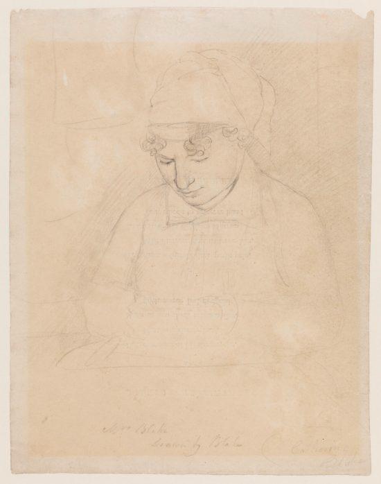 William Blake, Catherine Blake, żona malarza, szkic, Niezła Sztuka