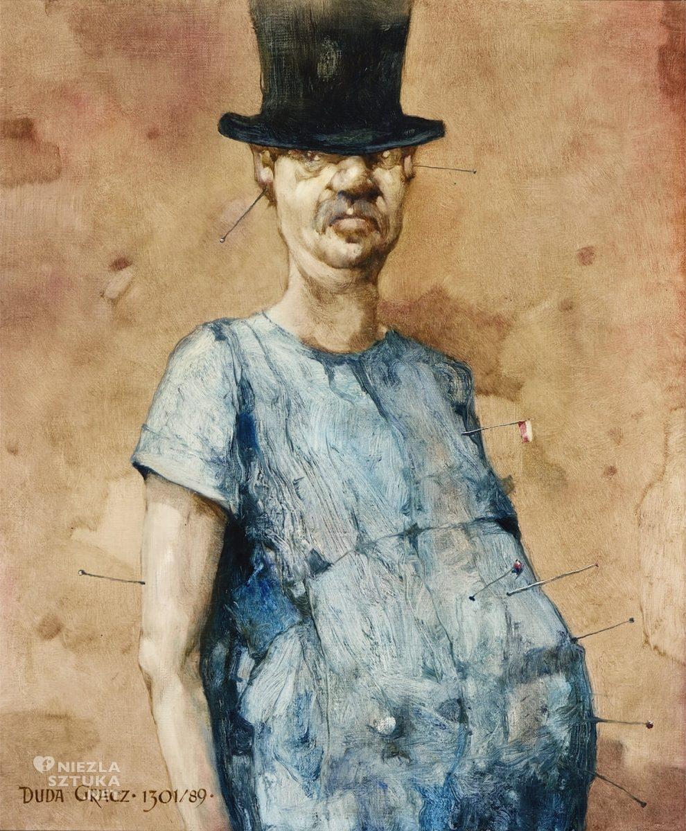 Jerzy Duda-Gracz, Obraz 1301, Autoportret, sztuka współczesna, sztuka polska, Niezła Sztuka