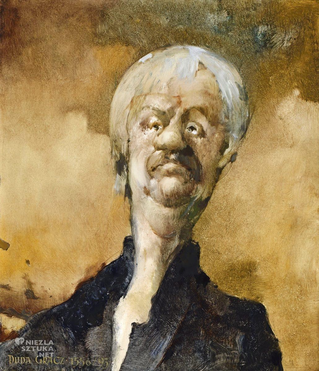 Jerzy Duda-Gracz, Obraz 1556, Autoportret, sztuka polska, sztuka współczesna, Niezła Sztuka