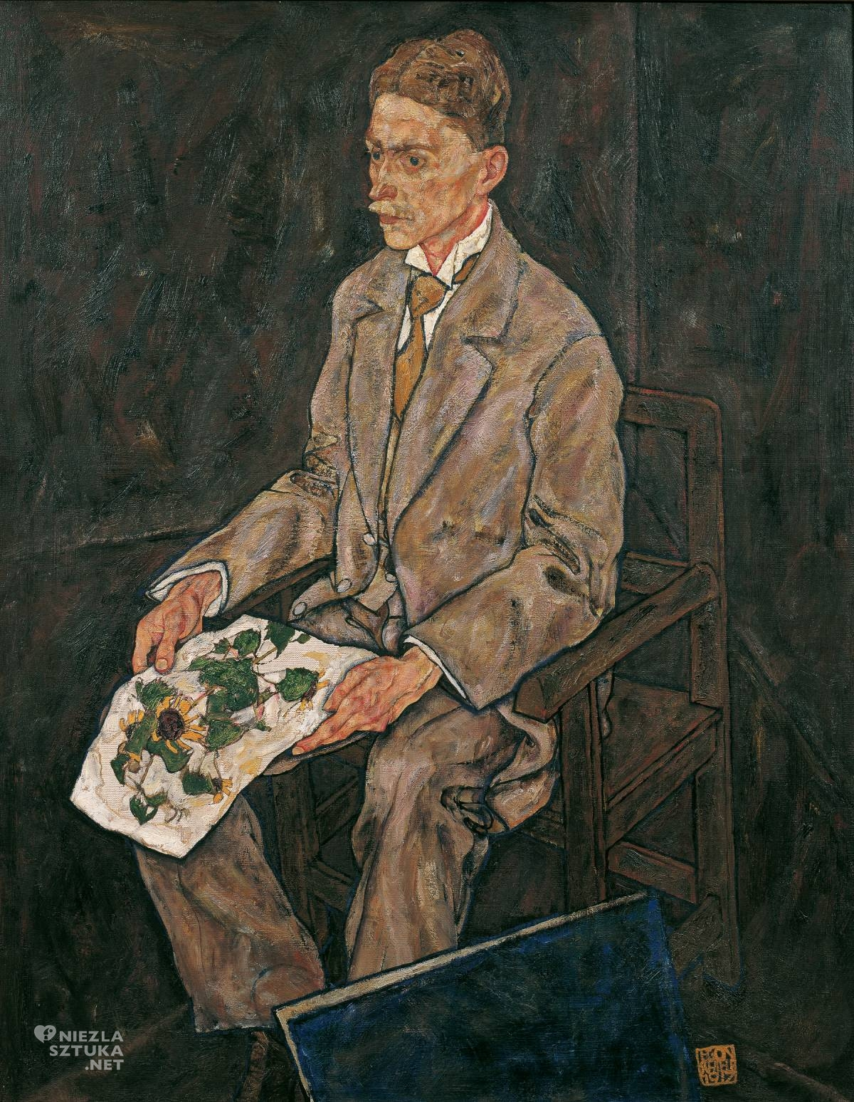 Egon Schiele, Doktor Martin Haberditzl, portret, historyk sztuki, dyrektor muzeum, Niezła Sztuka