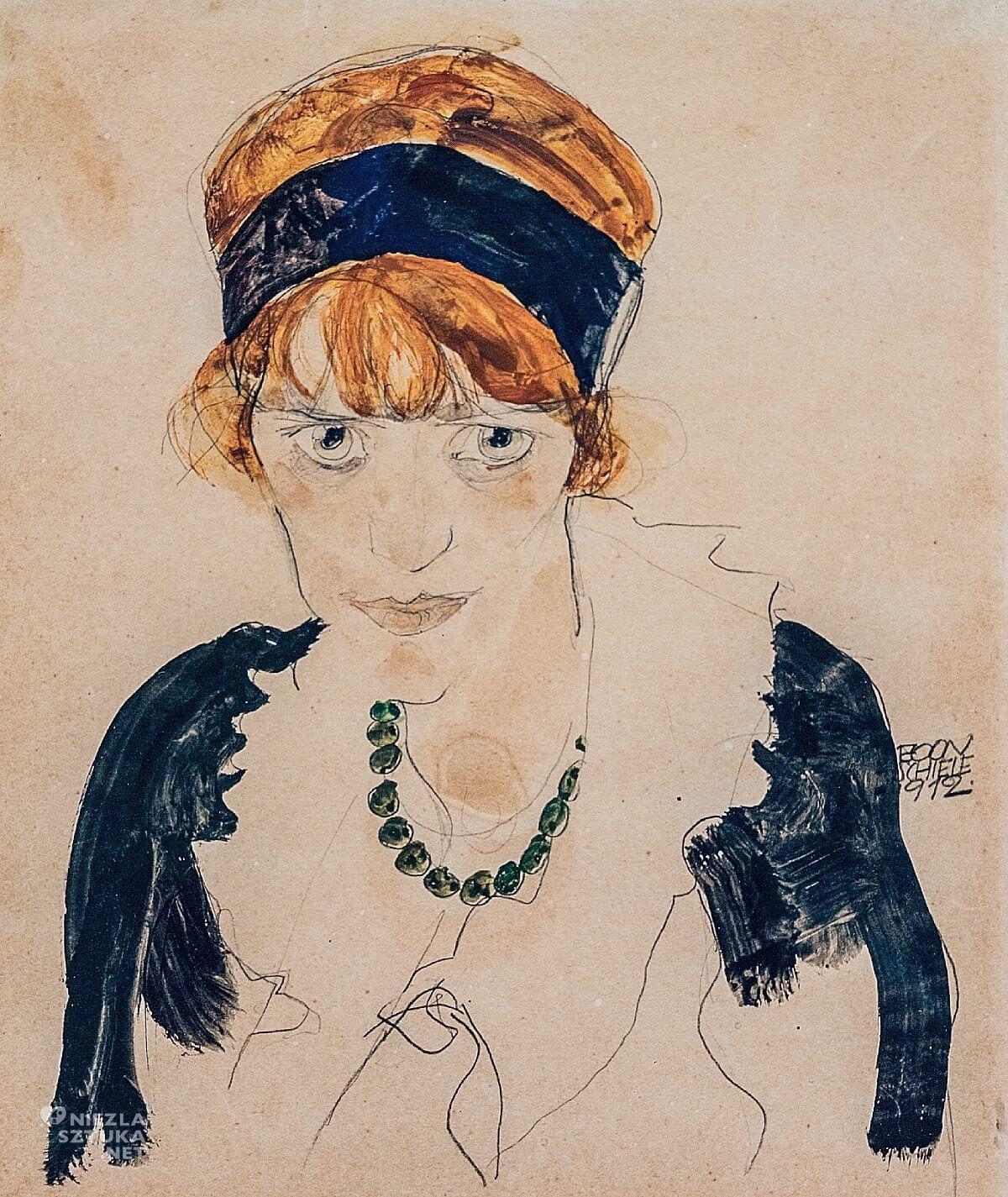 Egon Schiele, Wally, portret, Niezła Sztuka