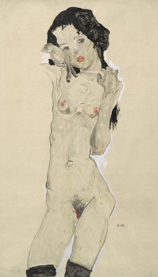 Egon Schiele, akt, sztuka austriacka, erotyzm, Niezła Sztuka