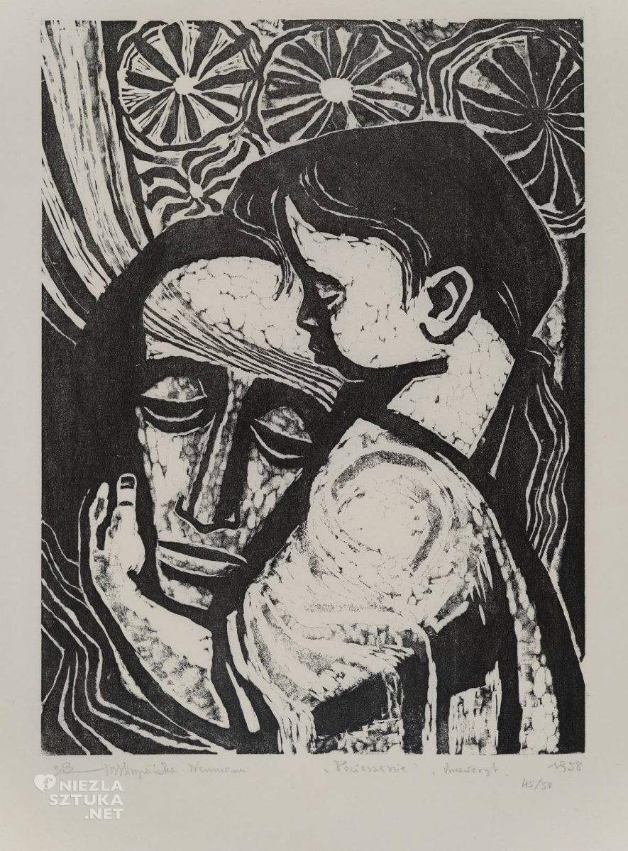 Maria Hiszpańska-Neumann, Pocieszenie, grafika, Niezła sztuka