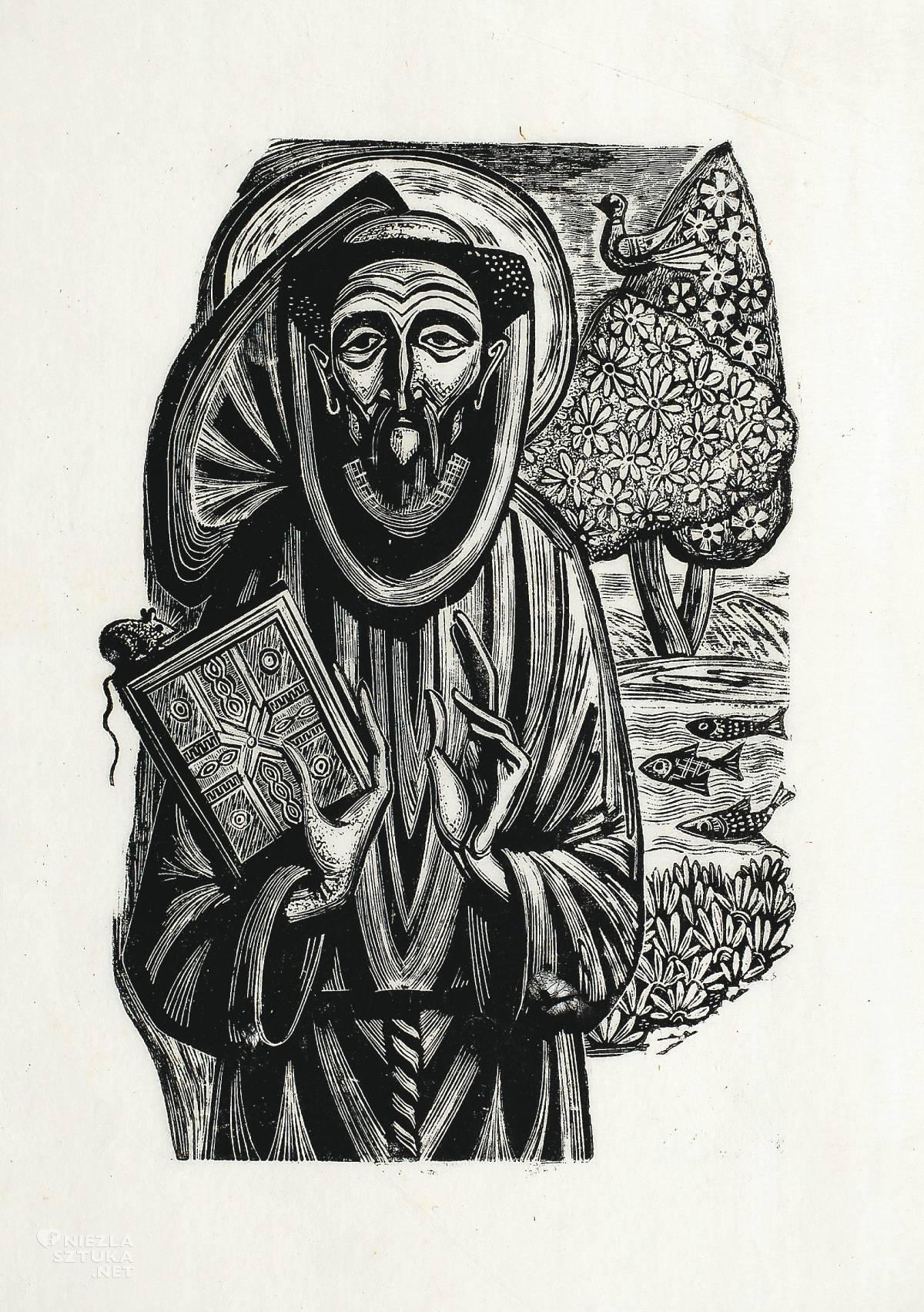 Maria Hiszpańska-Neumann, św. Franciszek, grafika, Niezła sztuka