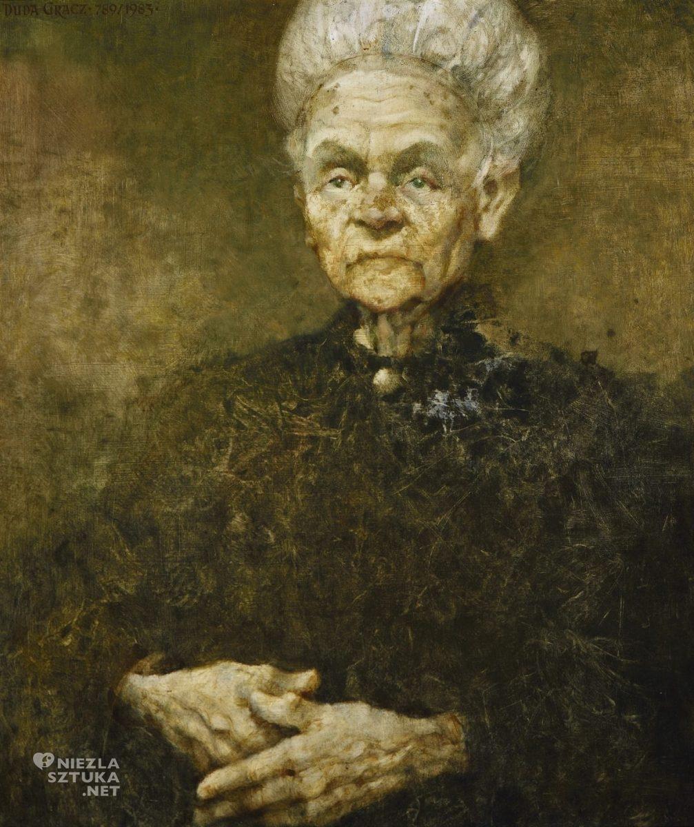 Jerzy Duda-Gracz, Portret matki, sztuka polska, sztuka współczesna, Niezła Sztuka