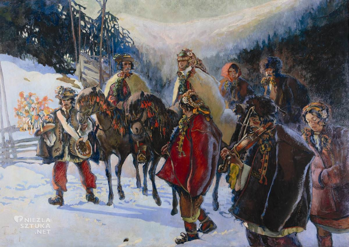 Kazimierz Sichulski, Wesele huculskie, malarstwo polskie, malarstwo XX w., Niezła sztuka