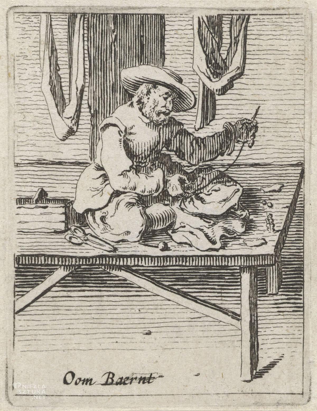 Gillis van Scheyndel, krawiec, grafika, sztuka niderlandzka, Rijksmuseum, Amsterdam, niezła sztuka