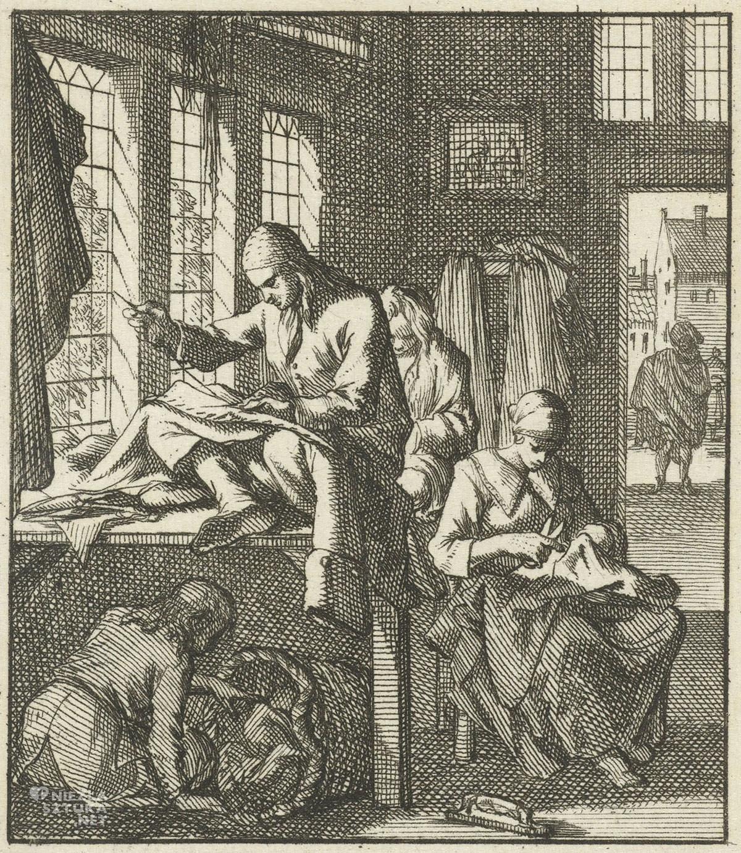 Jan Luyken, krawiec, grafika, sztuka niderlandzka, Rijksmuseum, Amsterdam, niezła sztuka