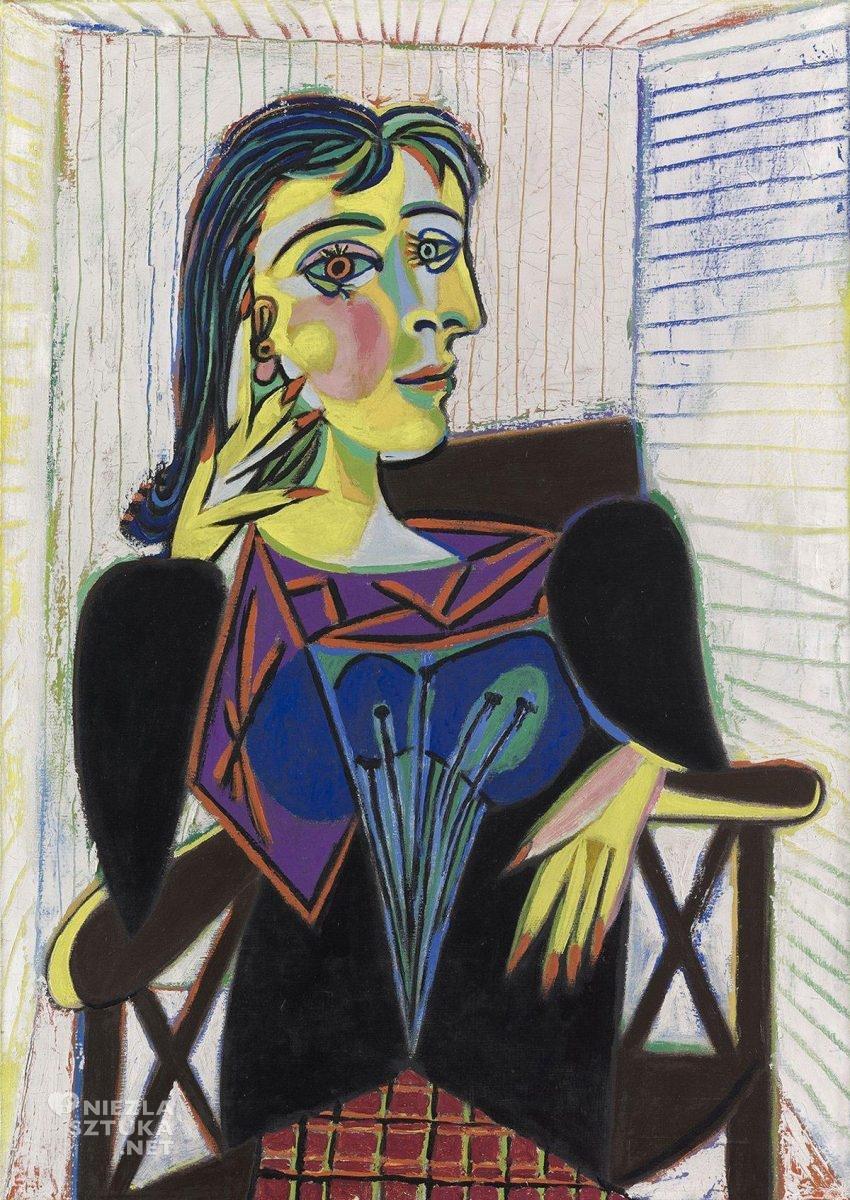 Pablo Picasso, Dora Maar, sztuka współczesna, kubizm, portret, kobiety w sztuce, Niezła Sztuka