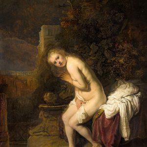 Rembrandt, Rembrandt van Rijn, Zuzanna, Zuzanna i starcy, sztuka niderlandzka, malarsto niderlandzkie, Niezła Sztuka