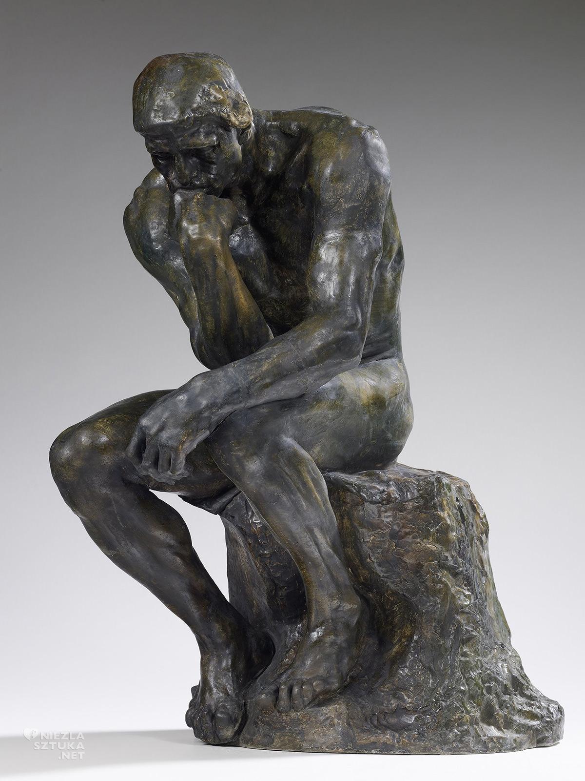 Auguste Rodin, Myśliciel, rzeźba, sztuka francuska, Niezła sztuka
