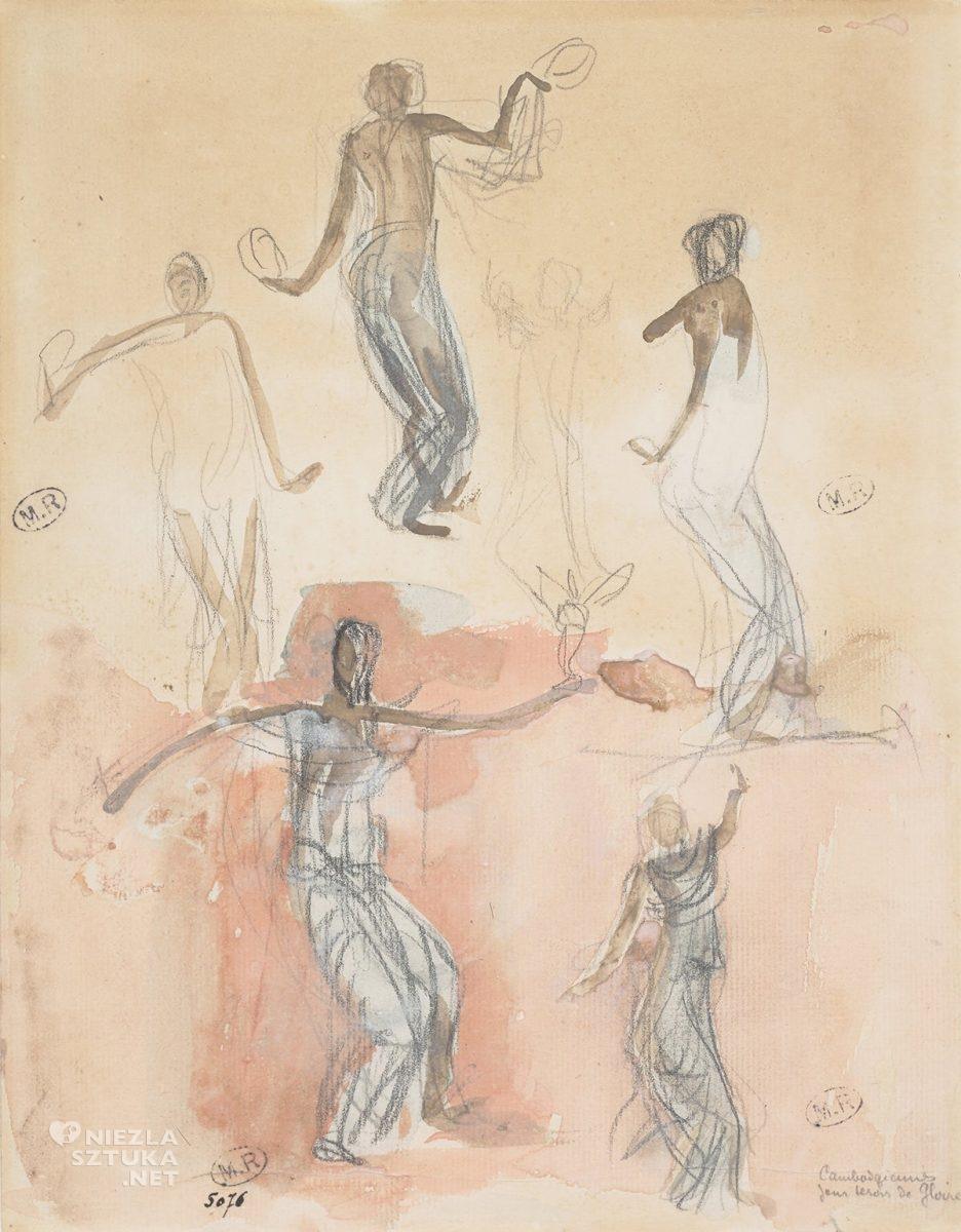 Auguste Rodin, Tancerka, szkic, sztuka francuska, Niezła sztuka