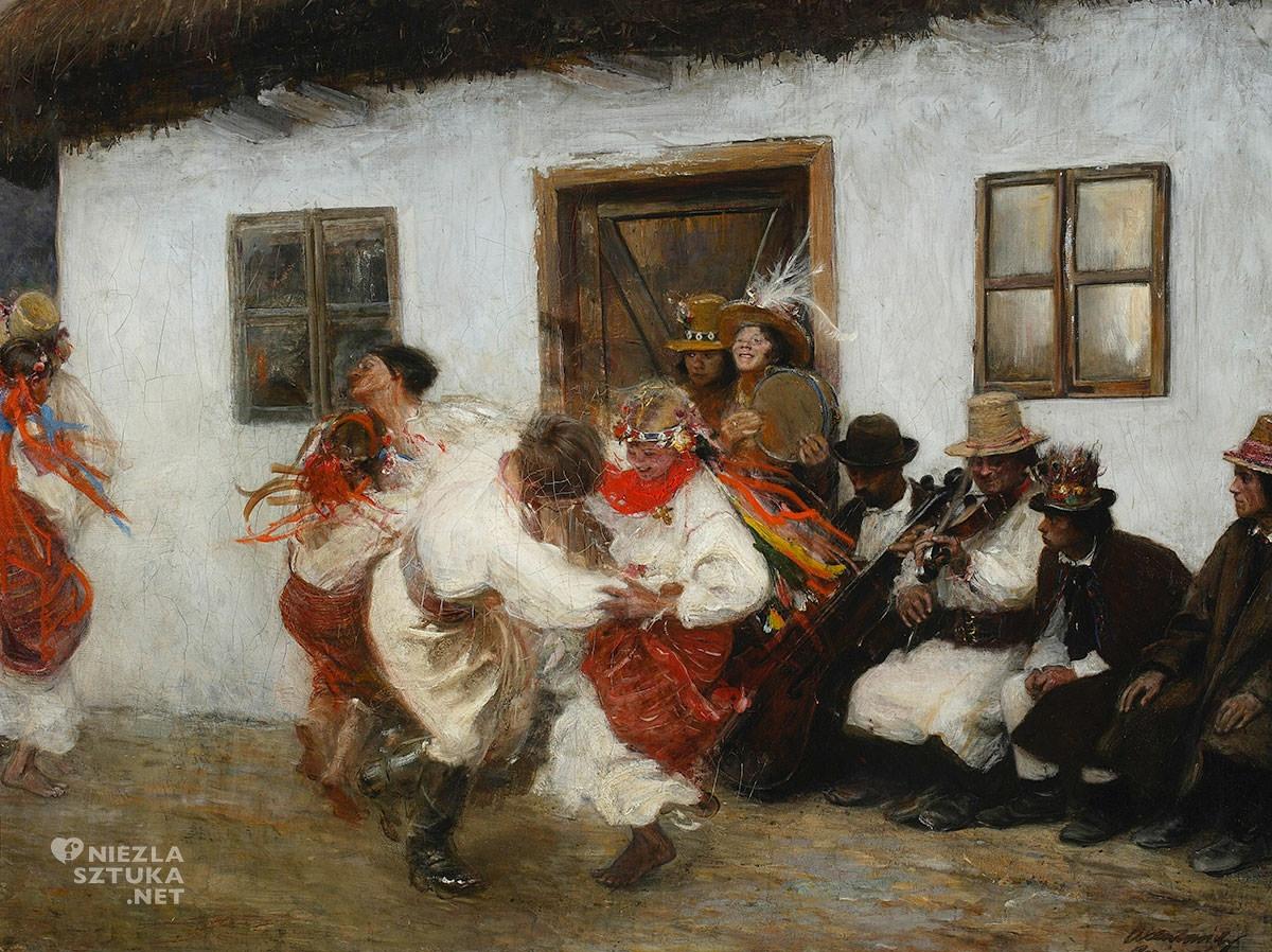 Teodor Axentowicz, Kołomyjka, malarstwo polskie, malarstwo XIX w., sztuka polska, realizm, Młoda Polska, Niezła Sztuka