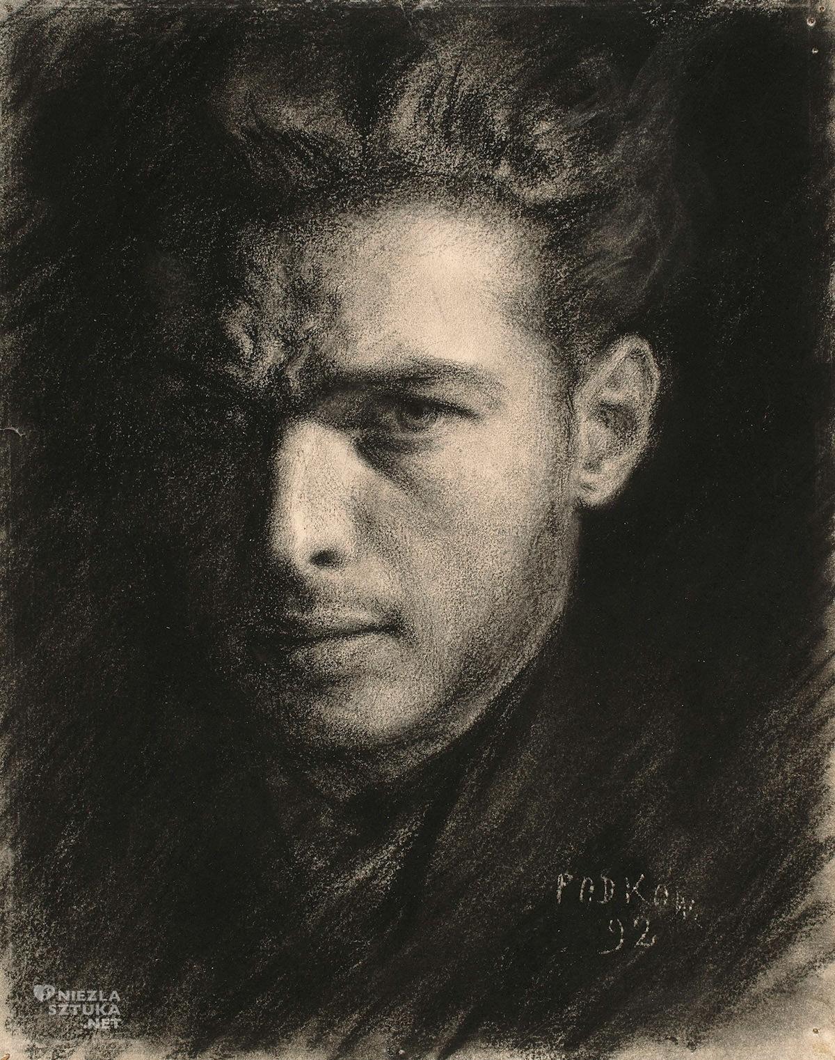 Władysław Podkowiński, Autoportret, sztuka polska, Niezła Sztuka