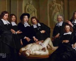 Adriaen Backer, Lekcja anatomii profesora Frederika Ruyscha, niezła sztuka