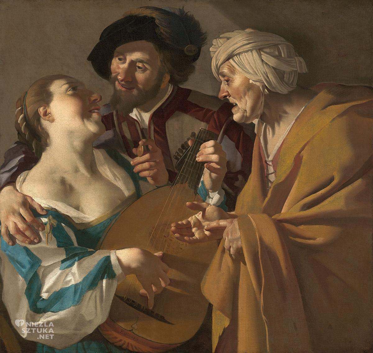 Dirck van Baburen, Stręczycielka, sztuka niderlandzka, szkoła utrechcka, Niezła Sztuka