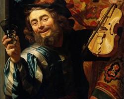 Gerrit van Honthorst, Wesoły Skrzypek, sztuka niderlandzka, szkoła utrechcka, Niezła Sztuka