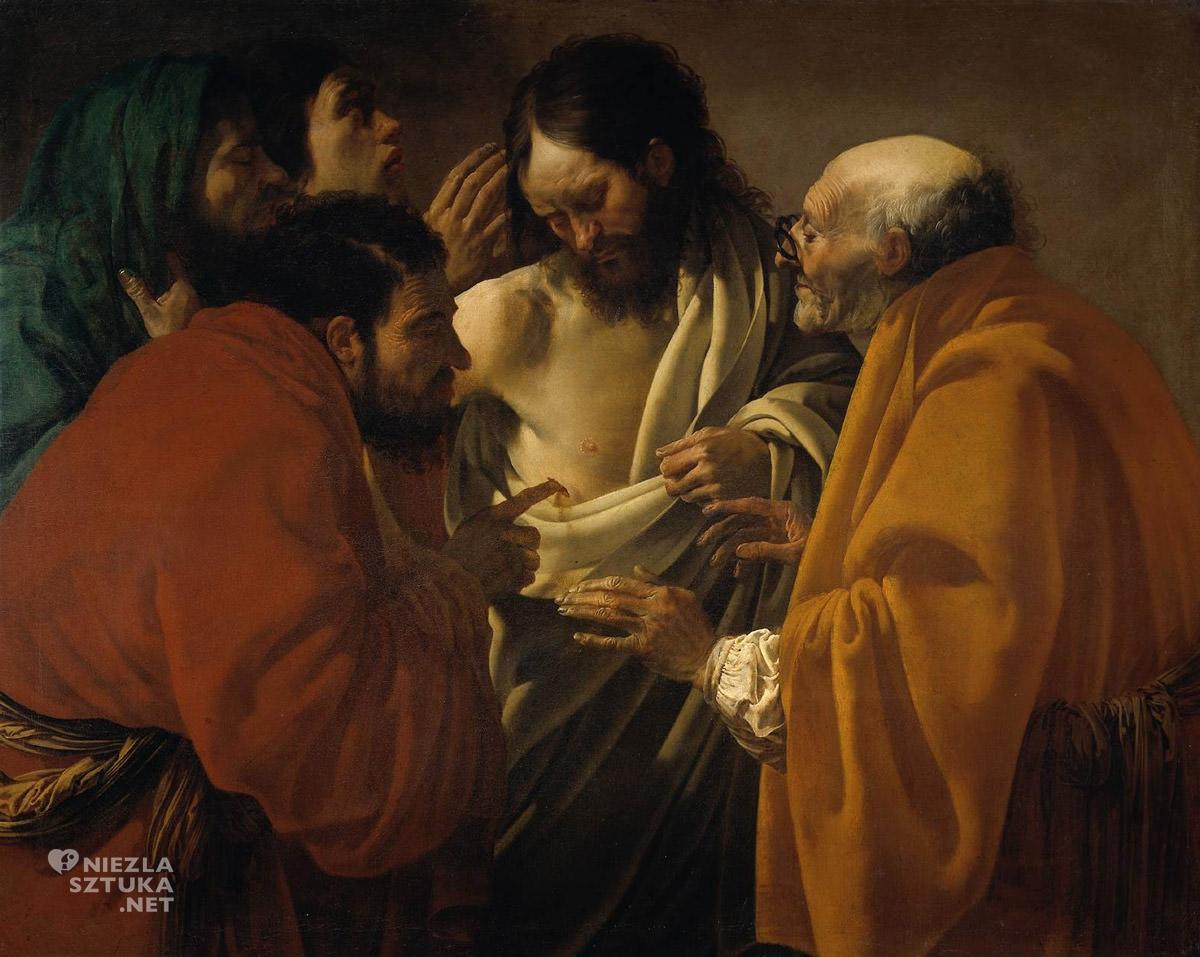 Hendrick ter Brugghen, Niewierny Tomasz, malarstwo religijne, sztuka niderlandzka, caravaggionizm, Niezła Sztuka