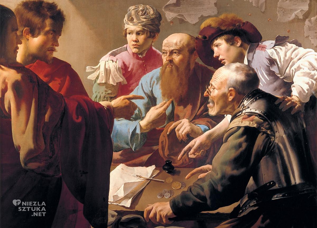 Hendrick ter Brugghen, Powołanie świętego Mateusza, sztuka niderlandzka, malarstwo religijne, Niezła Sztuka