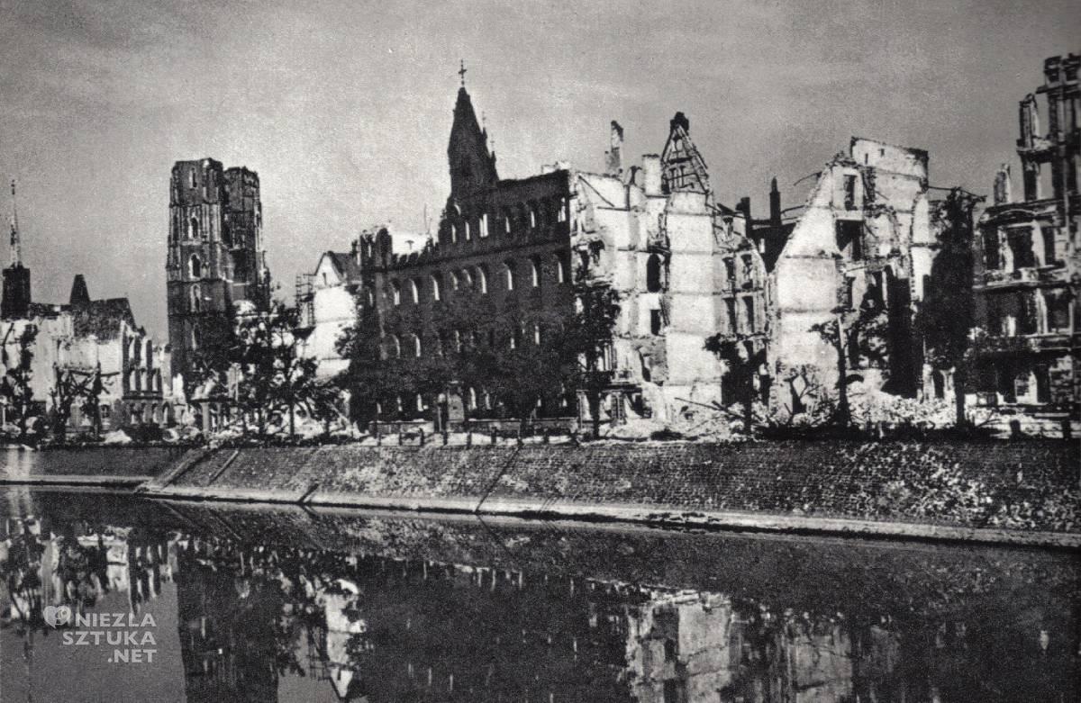 Ostrów Tumski, wojna, 1945, niezła sztuka