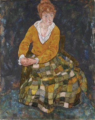 Egon Schiele, Portret żony artysty, rekonstrukcja, Niezła Sztuka