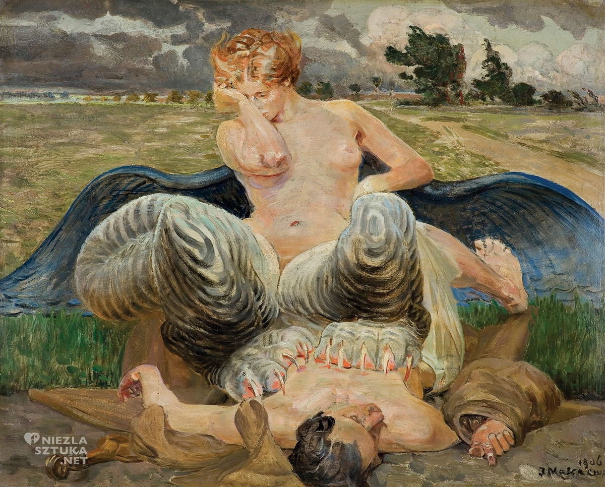 Jacek Malczewski, chimera, sztuka polska, malarstwo polskie, niezła sztuka