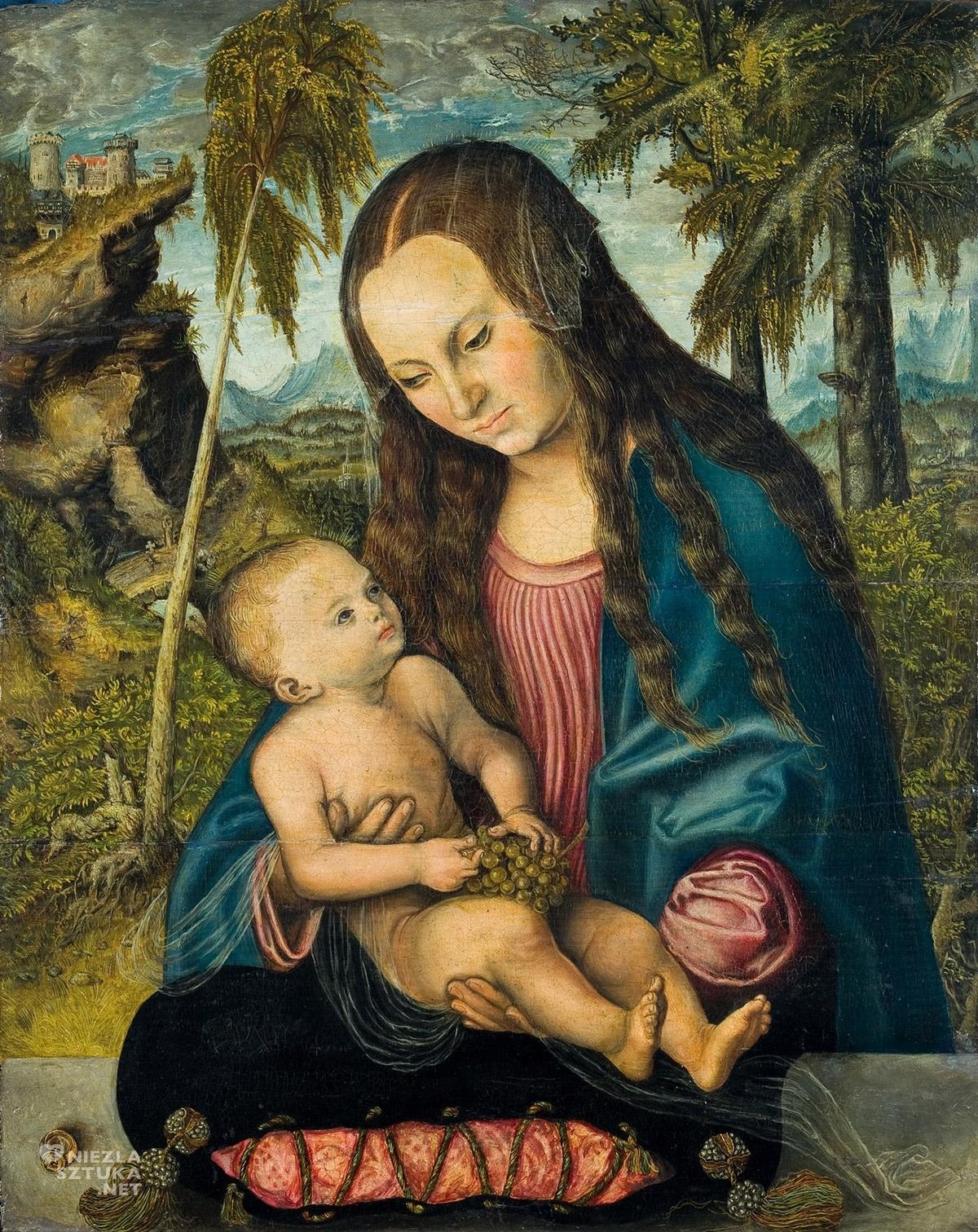 Madonna pod jodłami, Georg Kupke, kopia obrazu Madonna pod jodłami, Lucas Cranach, Wrocław, Niezła sztuka
